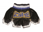 Muay Thai Shorts black-blue