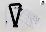 Taekwondo Dobok Fighter Ultralight WT Black V-Neck