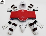 Taekwondo complete guard set with visor helmet